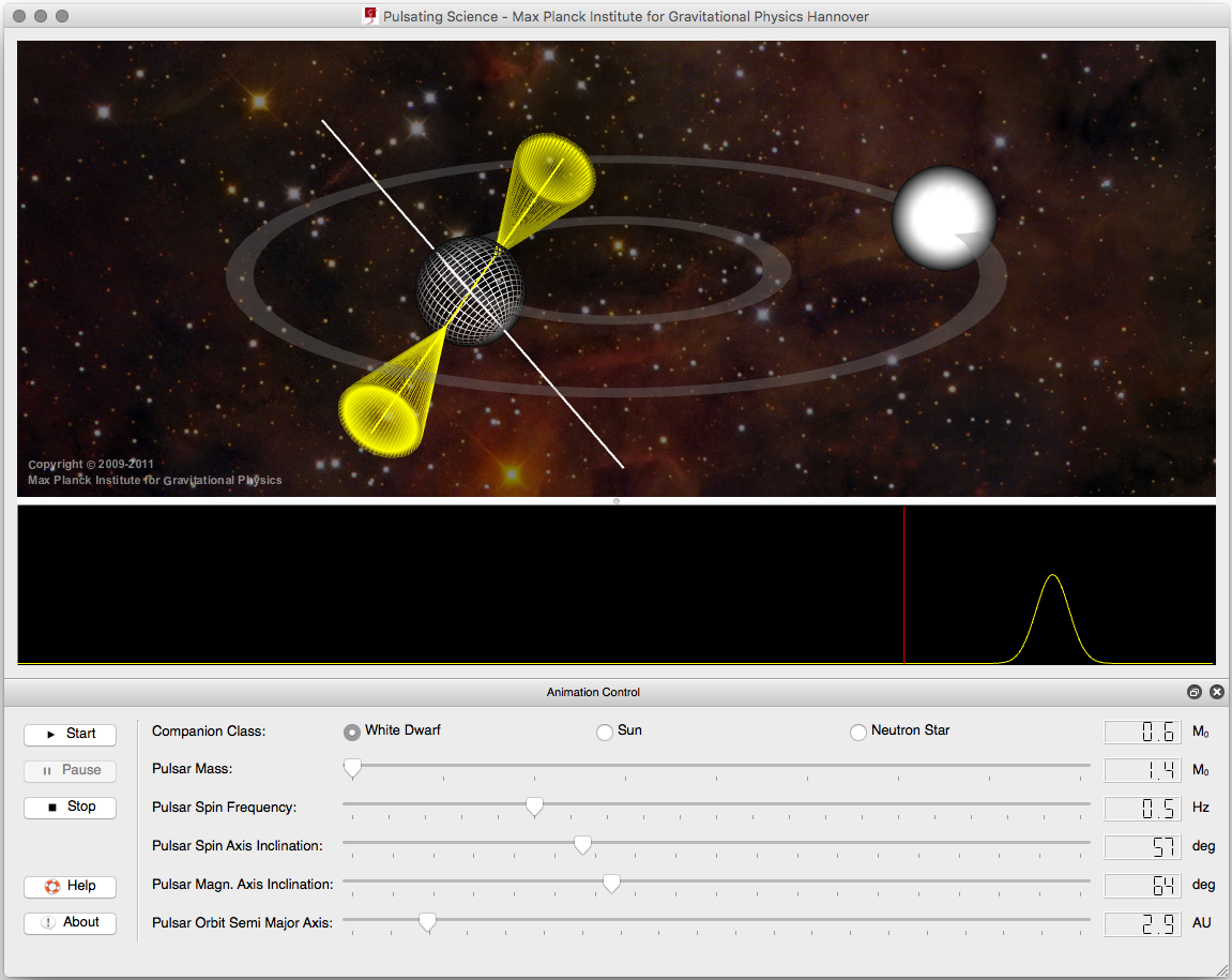 Screenshot: Pulsating Science